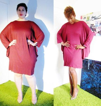 Ma robe bordeaux portée par Jordane et Fayçalath