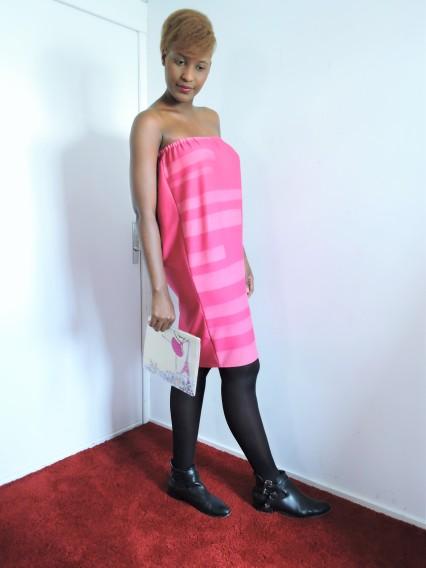 Ma jupe fourreau transformée en robe bustier sans ceinture