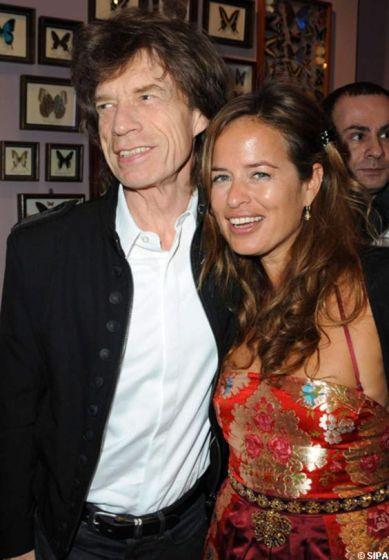 Mick Jagger et sa fille Jade Jagger