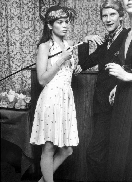 Bianca Jagger et Yves Saint Laurent au Studio 54