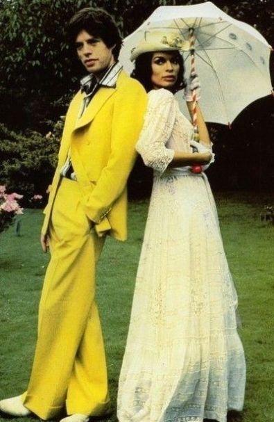 Mick et Bianca Jagger en 1974