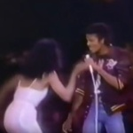 Michael Jackson at Diana Ross Concert - Upside Down - 1980