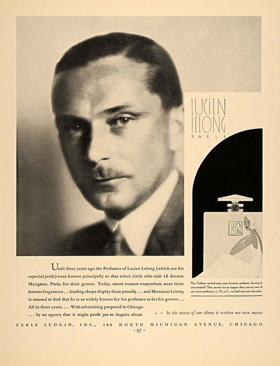Lucien Lelong grand couturier et parfumeur
