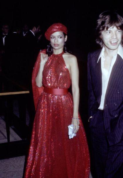 Bianca et Mick Jagger en 1973