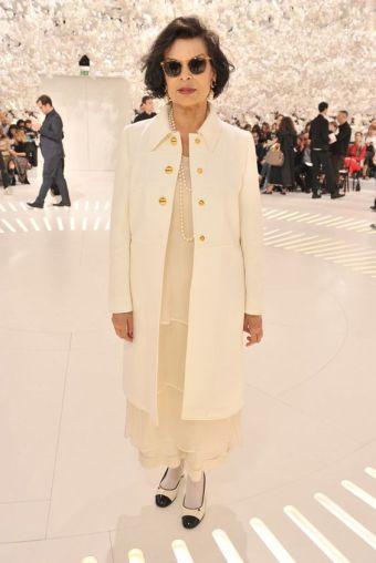 Bianca Jagger au défilé Dior en 2014