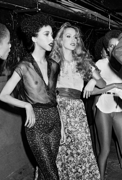 Pat Cleveland et Jerry Hall au Studio 54, 1979