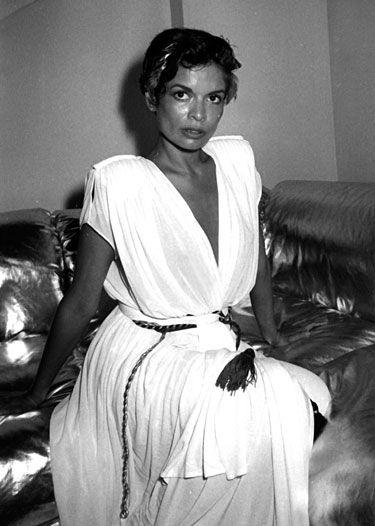 Bianca Jagger en Caftan Halston au Studio 54, 1980