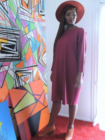 Ma robe bordeaux portée par Fayçalath