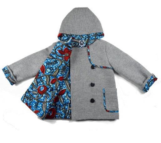 Duffle coat Jade - 100% laine et 100% coton wax