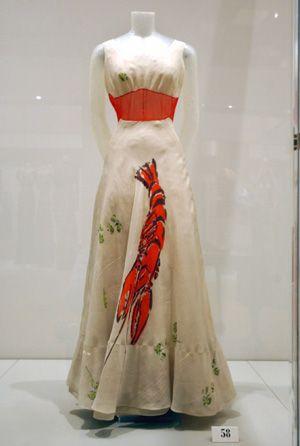 La robe homard dessiné par Dali pour Elsa Schiaparelli