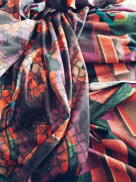 Fabrics prints by Nafissath Abdoulaye Aka N'sqol
