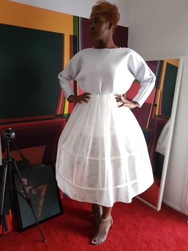 Creation & stylism; stylism by Nafissath Abdoulaye AKA N'sqol ; model: Fayçalath
