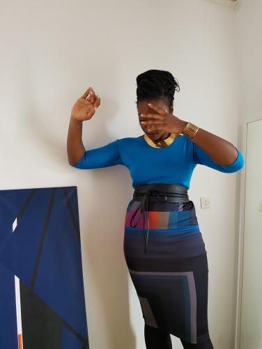 Creation & stylism by Nafissath Abdoulaye AKA N'sqol ; model: Laurie